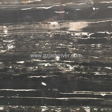 Black Natural Marble Slab don bango da bene